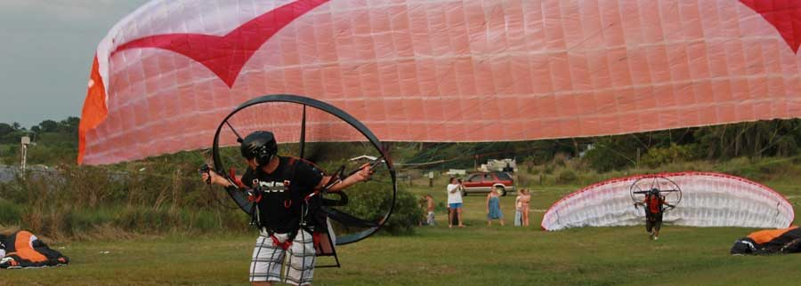 learn to fly the scout carbon fiber paramotor